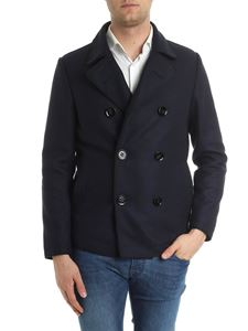 Dondup - Blue double-breasted coat