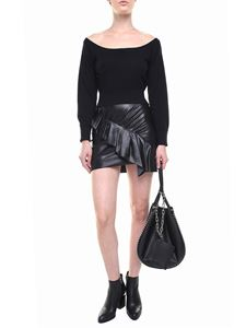 Alexander Wang - Black pullover with boat neckline and tulle