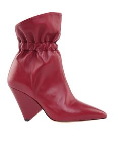 """Isabel Marant - Burgundy """"Lileas"""" ankle boots"""