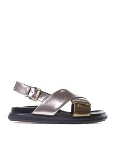 Marni - Fussbett laminated sandals