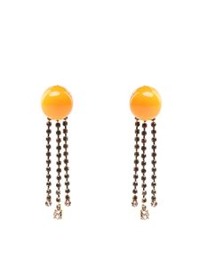 Marni - Yellow resin and rhinestones earrings
