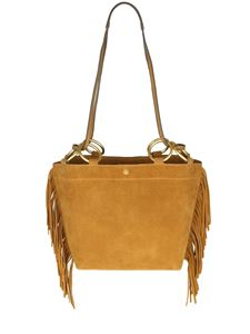 Tory Burch - Borsa Farrah fringe small tote color cammello