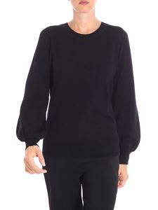 Michael Kors - Black crewneck pullover with long sleeves