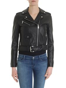 Michael Kors - Black biker jacket with notch lapels