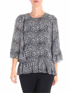 Michael Kors - Black and white blouse with wide sleeves