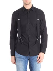 Moschino - Black shirt with braces