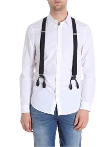 Moschino - White shirt with black braces