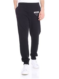 Moschino - Black sweat pants with white logo print