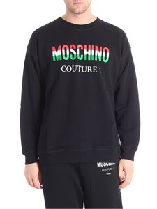 Moschino - Black sweatshirt with tri-color logo print