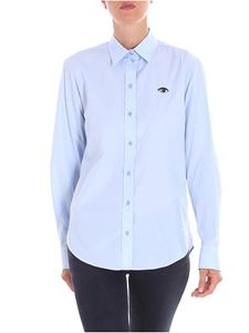 Kenzo - Light-blue Eye embroidery shirt