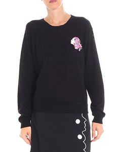 Vivetta - Black Jager sweater with multicolor beads