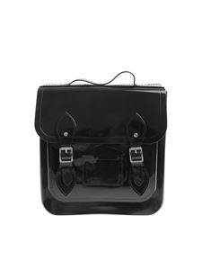 Melissa - Black backpack with front buckles