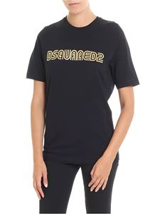 Dsquared2 - Black t-shirt with golden logo print