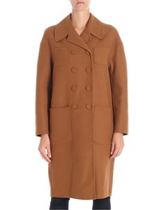 N° 21 - Camel color double-breasted coat