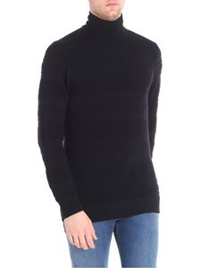 Paolo Pecora - Black embossed fabric pullover