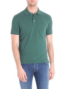 Jacob Cohën - Green cotton piquet polo