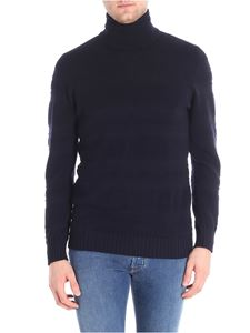 Paolo Pecora - Blue embossed fabric pullover