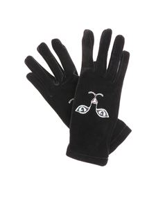 Vivetta - Black Heise cat embroidered gloves