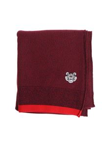 Kenzo - Blue and red scarf with Tiger logo