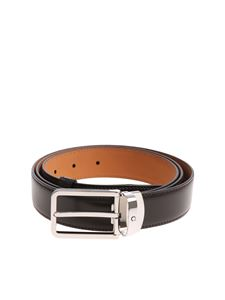 Montblanc - Brown belt with silver buckle