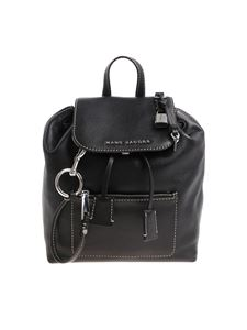 Marc Jacobs  - Black backpack with white stitching