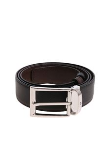 Montblanc - Reversible black and brown belt