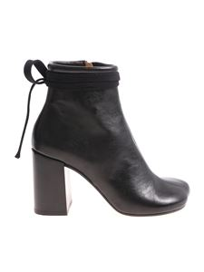 MM6 by Maison Martin Margiela - Black leather ankle boots