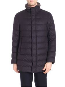 Herno - Dark gray melange down jacket