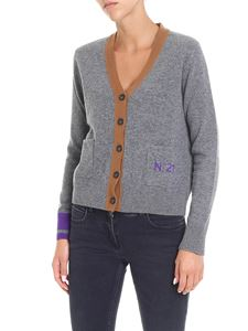 N° 21 - Grey cardigan with contrasting edges