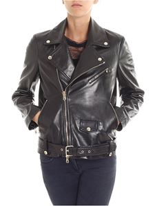 Red Valentino - Black biker jacket with golden inserts