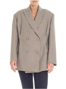 Erika Cavallini Semi-couture - Brown and green houndstooth jacket