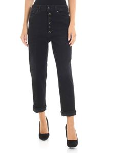 Dondup - Black Koons jeans with jeweled buttons