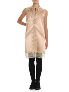 Ermanno Scervino - Silk satin and lace dress