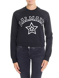Balmain - Black sweatshirt with logo insert