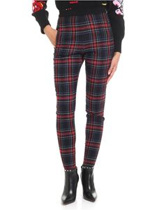 Ermanno Scervino - Tartan printed black trousers