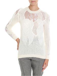 Ermanno Scervino - Cream-colored knitted lace pullover