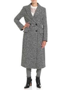 Ermanno Scervino - Long black and white houndstooth coat