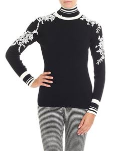 Ermanno Scervino - Turtleneck sweater with crochet inserts