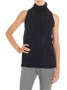 Ermanno Scervino - Black sweater with all over rhinestones