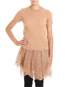 Ermanno Scervino - Nude crewneck sweater with pierced details
