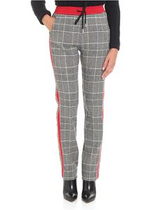 Ermanno Scervino - Prince of Wales trousers with red inserts