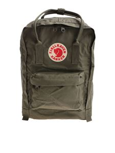 "Kanken Fjall Raven - Classic 15"" army green backpack with logo"
