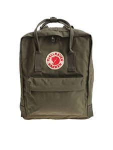 Fjallraven - Classic army green backpack with logo