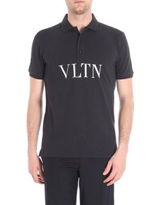 Valentino - VLTN printed black polo