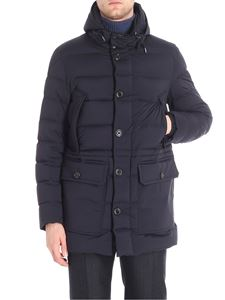 Moncler - Blue Reims hooded down jacket