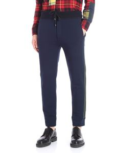 Ermanno Scervino - Blue pants with knitted edges