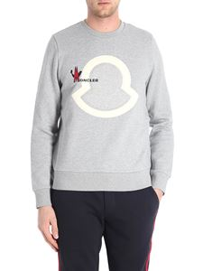 Moncler - Grey sweatshirt with front logo insert