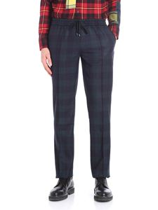 Ermanno Scervino - Blue and green checked jogging pants