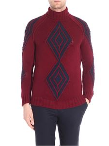 Etro - Burgundy pullover with embroidery