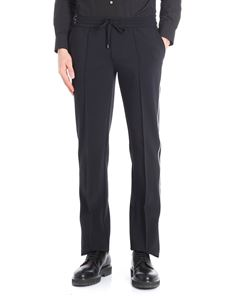 Ermanno Scervino - Blue jogging trousers with white details